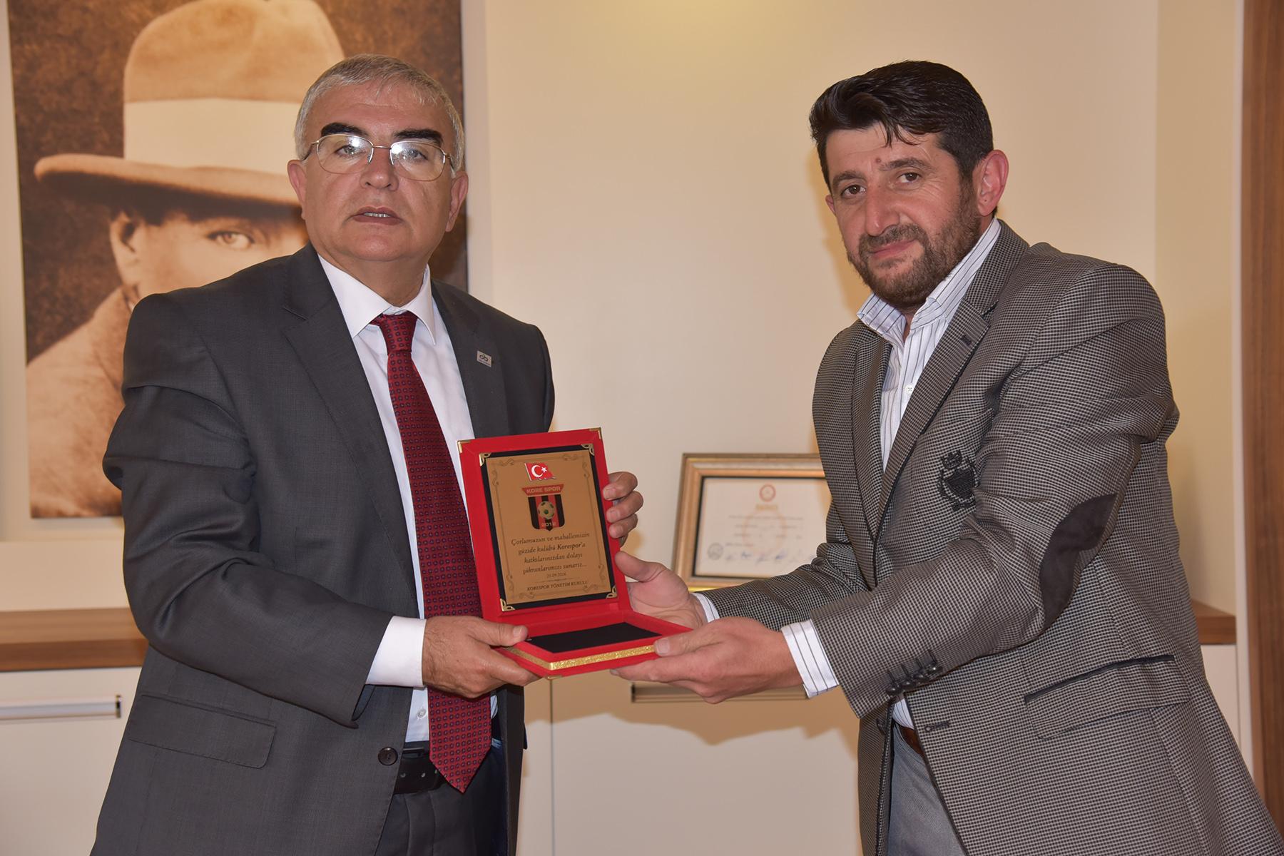 Korespor'dan Başkan Baysan'a Teşekkür Ziyareti